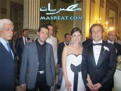 صور حفلة عقد قران بسمة وعمرو حمزاوي