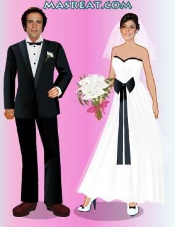 لعبة تلبيس العريس والعروسة: عمرو حمزاوي وبسمة