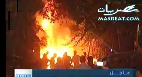 حرق مقر مرشح الرئاسة احمد شفيق احتجاجاً على نتائج انتخابات 2012