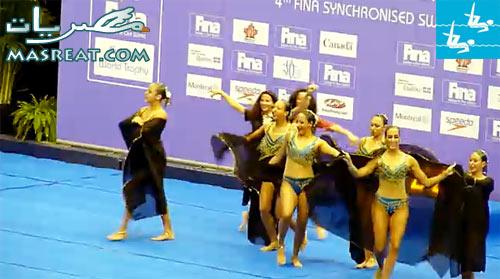 عروض سابقة لبعثة مصر في اولمبياد لندن ٢٠١٢ - سباحة متزامنة