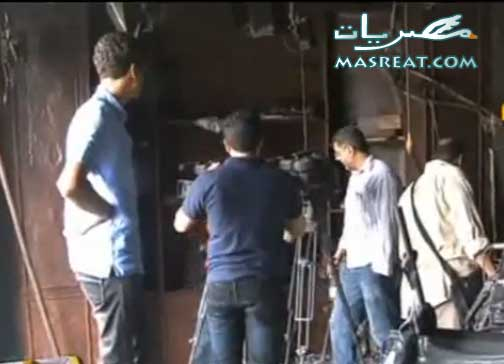 حرق مقر قناة الجزيرة