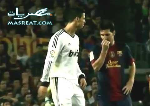 مهاجم فريق برشلونة الارجنتيني ليونيل ميسي في صورة مع البرتغالي لاعب فريق ريال مدريد كرستيانو رونالدو