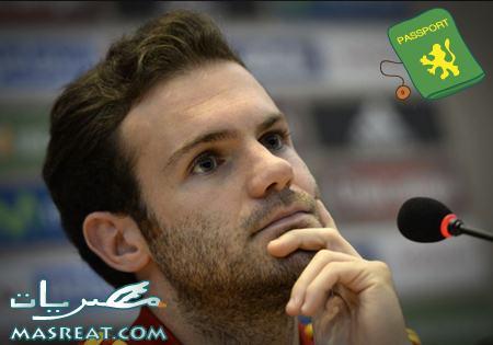 خوان ماتا لاعب فريق نادي تشيلسي الانجليزي