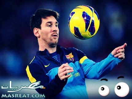 ليونيل ميسي لاعب برشلونة الحاصل على لقب افضل لاعب في الدوري الاوروبي والاسباني