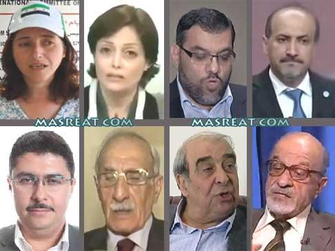 اسماء اعضاء تشكيل وفد الائتلاف الوطني السوري في مفاوضات جنيف 2