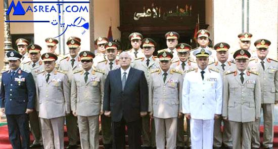 استقالة المشير السيسى من منصب وزير الدفاع