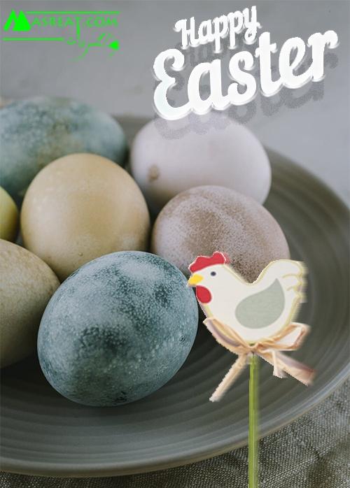 صورة بيض شم النسيم ملون طبيعي