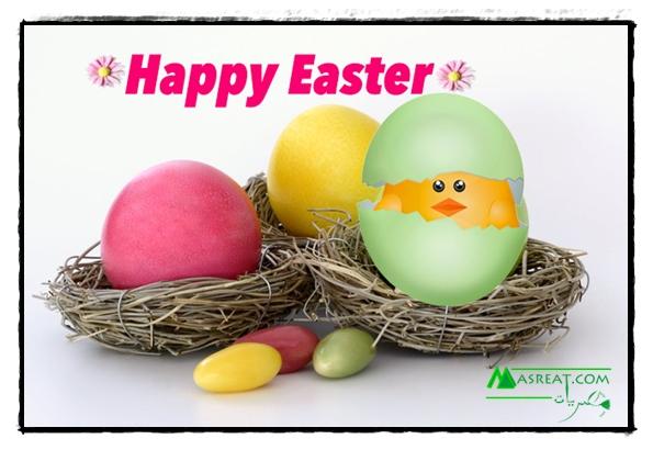صور بيض عيد شم النسيم ملون