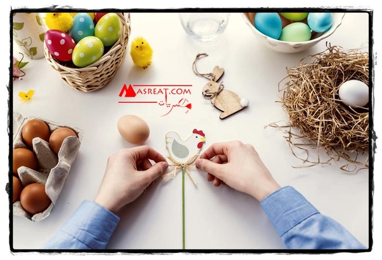 صورة تزيين بيض شم النسيم