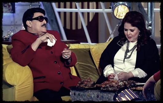 دلال عبد العزيز وزوجها سمير غانم