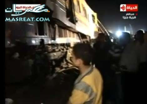 موقع حادثة العياط و حادثة قطار الفيوم و قطار القاهرة