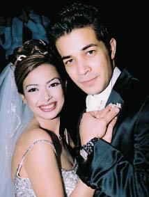 داليا مصطفى مع زوجها شريف سلامة