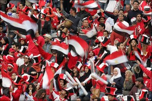 مشجعين منتخب مصر لللشباب
