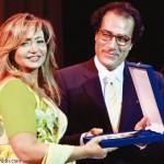 فاروق حسني مع ليلى علوي