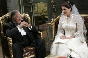 يحيى الفخراني مع وفاء عامر في مسلسل ابن الارندلي