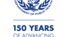 Commonwealth of Massachusetts Department of Public Health special logo: 150 Years of Advancing Public Health