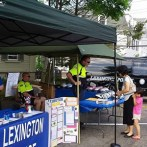 We thank Lexington Police for stepping in at the last minute and fitting helmets for the kids at Discovery Day in May!