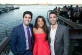 Reza Breakstone (left) with Jasmin and Simon Breakstone