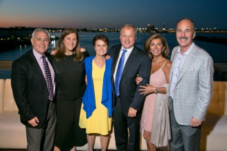 From left: Ronald E. Gluck, Elizabeth Brody Gluck, Denise Murphy, David W. White, Zhilla Breakstone and Marc L. Breakstone