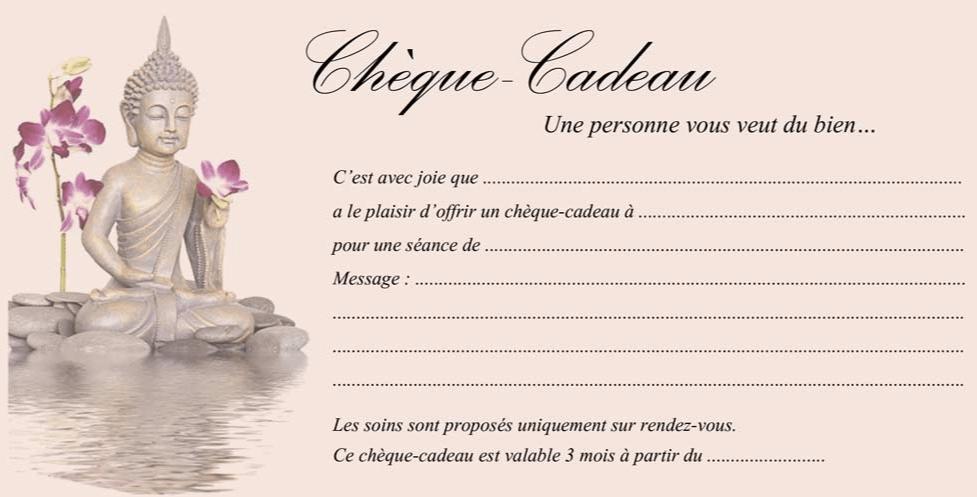 Cabinet De Massages Bien Etre Chques Cadeaux