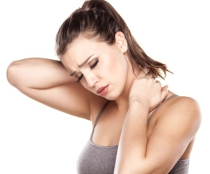 Woman With Neck Pain - Neck And Shoulder Massage In York