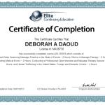 Deborah A. Daoud Certificate of Completion, License Renewal