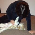Pearl Ten years old, enjoying her relaxing massage.