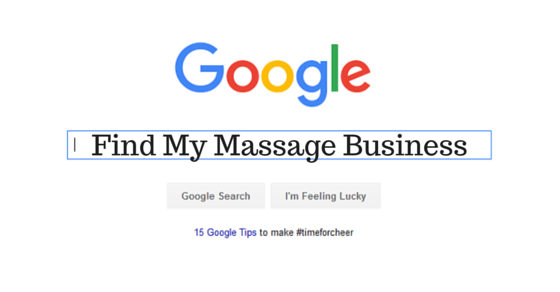 Google Find My Massage Business