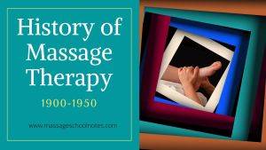 History of Massage Therapy 1900-1950