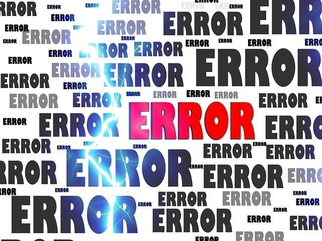 errori che si commetono