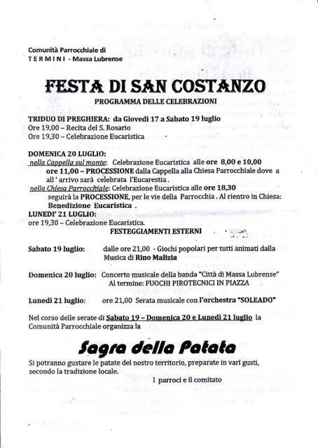 Festa di San Costanzo - Sagra patata 2014 Termini