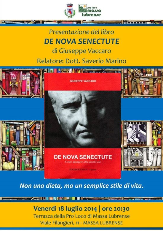 Presentazione del libro De nova senectute Giuseppe Vaccaro