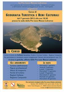 Locandina corso geografia turistica