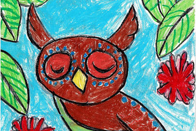 Owl dreaming © Kai Choat (age 7)