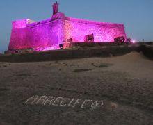 El Castillo de San Gabriel se iluminará de rosa con motivo del Día Mundial contra el cáncer de mama