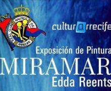 Edda Reents expone sus pinturas en el Real Club Náutico de Arrecife