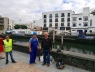 El Ayuntamiento de Arrecife realiza limpieza y mantenimiento del esqueleto de ballena