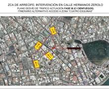 El Cabildo de Lanzarote anuncia el cierre al tráfico de la calle Cienfuegos, en su confluencia con Hermanos Zerolo, con motivo de las obras de la Zona Comercial Abierta en Arrecife