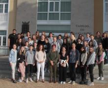 Estudiantes alemanas del programa de intercambio del IES Las Salinas visitan el Cabildo de Lanzarote