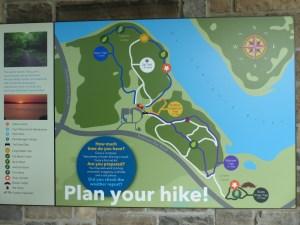 Nature Center Hiking Map
