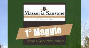 Masseria Sansone vi invita a trascorrere insieme la festa del Primo Maggio degustando piatti della tradizione e un percorso natura all'interno della tenuta.