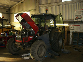 Massey Ferguson 2430 winter servicing