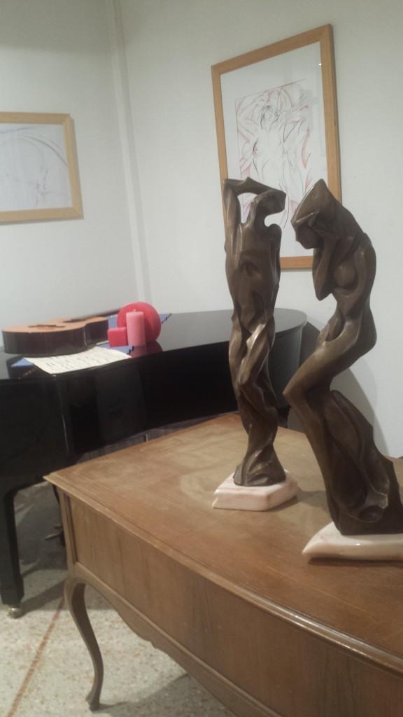 Due sculture di Michelangelo Toffetti