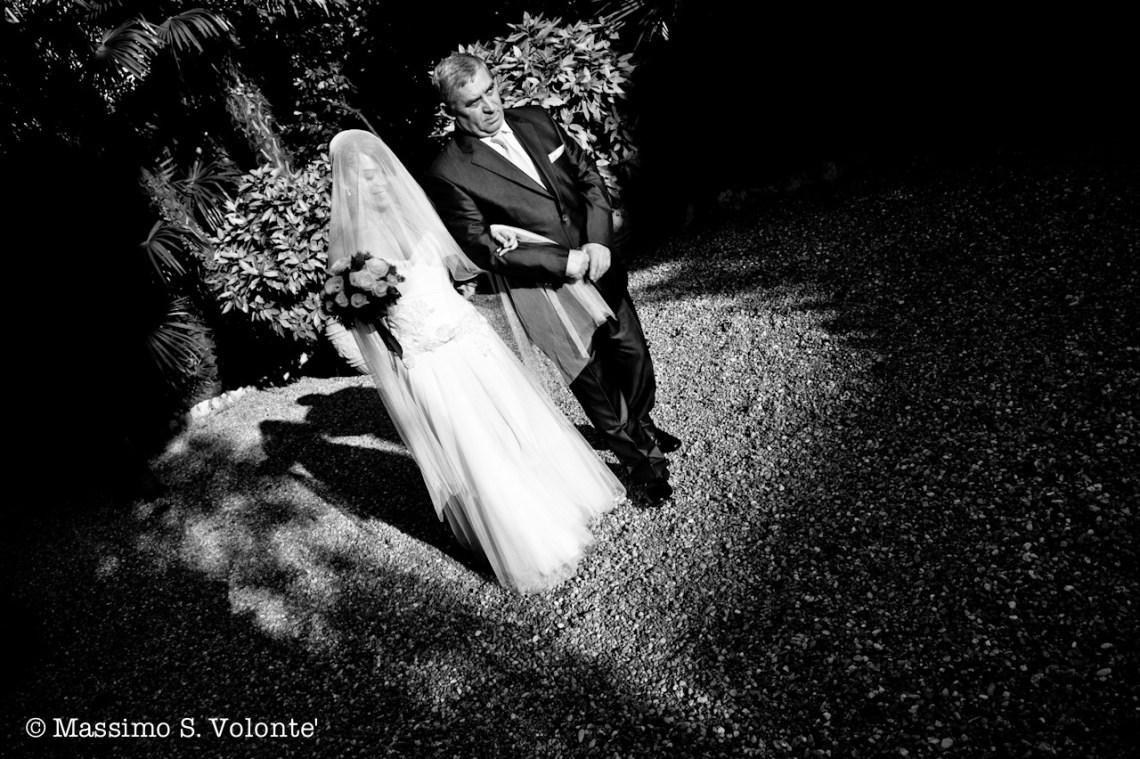 Fotografo matrimonio Como, Sposa con il padre