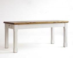 Esstisch 180x90 Tisch Küchentisch Kiefer massiv weiß honig Vintage Look