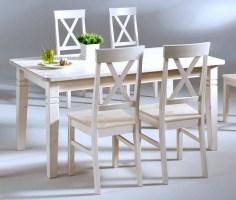 Massivholz Esstisch 160cmTisch Küchentisch Kiefer massiv weiß lasiert