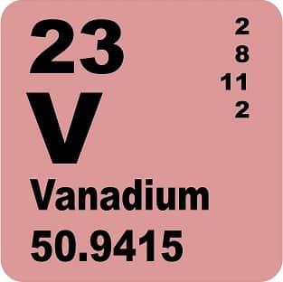 Vanadium (V) : Sejarah, Kegunaan Dan Bahaya