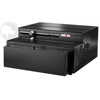 The Rhin-O-Tuff HD-6500 Onyx is a 14 inch open-ended punch that features a two bolt EZ change slide out die system for changing punch patterns in two minutes or less.