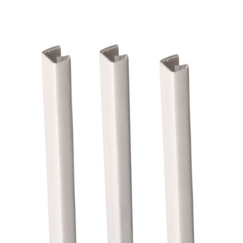 "MasterBind White 11"" Soft Covers Binding Channels - 25/BX. For the best binding finish, be sure to use the MasterBind Atlas 150 along with any of the MasterBind soft covers."