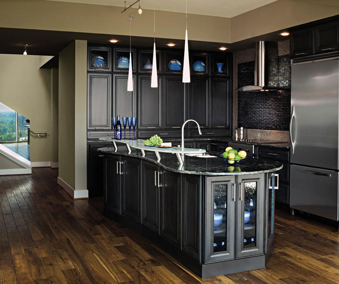Dark Grey Kitchen Cabinets MasterBrand